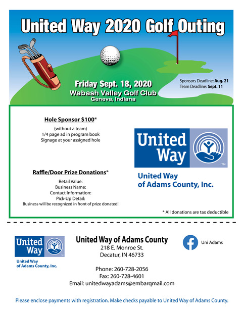 United Way Golf Outing Flyer 2019 -1 of 2 (1)